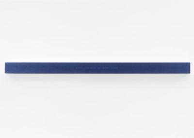 Francine Savard, Lumière de la nuit, 2018, médiums mixtes sur toile marouflée sur caisson de bois, 10,16 × 177,8 × 10,16 cm