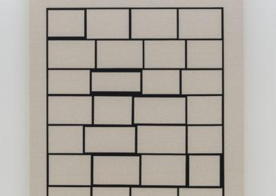 Daniel Langevin, Cumulonimbus, 2018, acrylique sur coton, 152 x 102 cm
