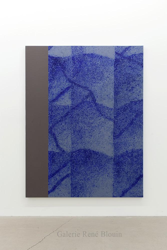 Nicolas Lachance, Sans titre, 2018, Huile et acrylique sur toile, 195,5 x 149,8 cm / 77 x 59 pouces