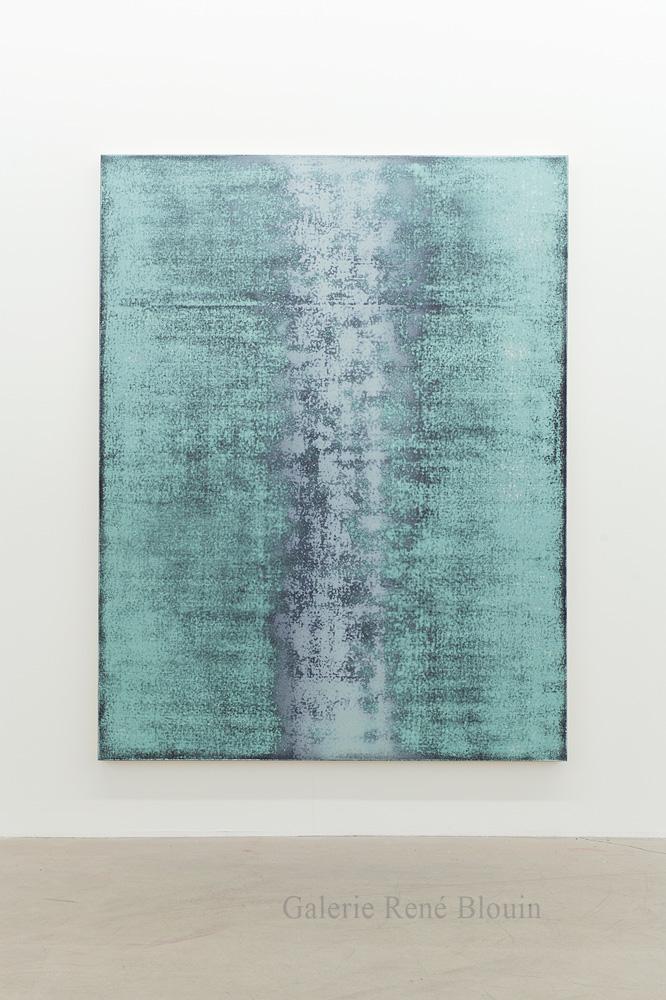 Nicolas Lachance, Oxyde de chrome (noir), 2018, Laque et acrylique sur toile, 195,5 x 149,8 cm / 77 x 59 pouces
