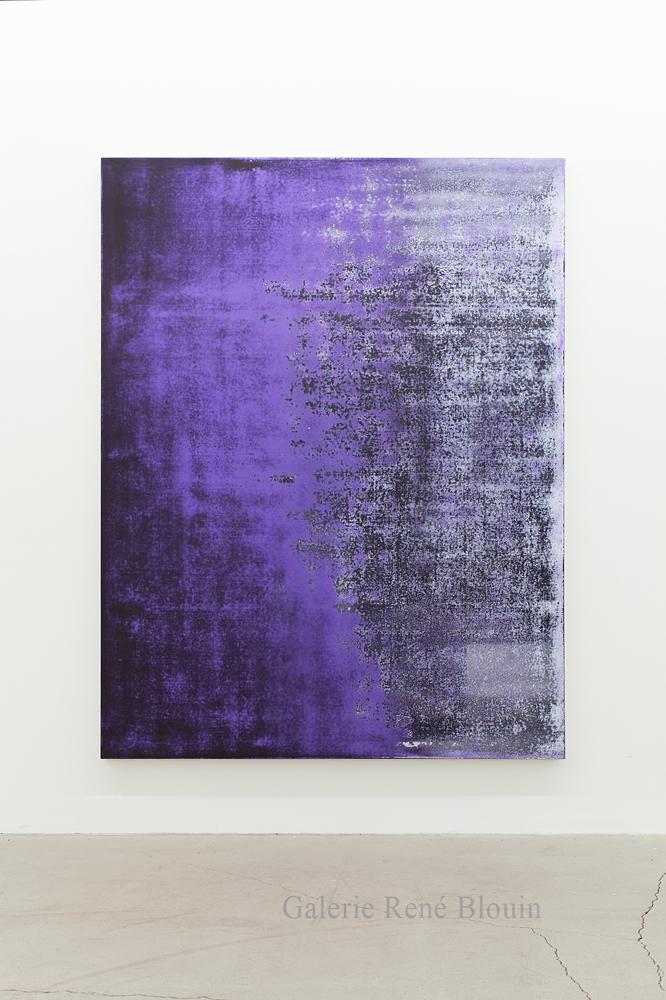 Nicolas Lachance, Carbazole (noir), 2018, Laque et acrylique sur toile, 195,5 x 149,8 cm / 77 x 59 pouces. Crédit photo: Simon Belleau