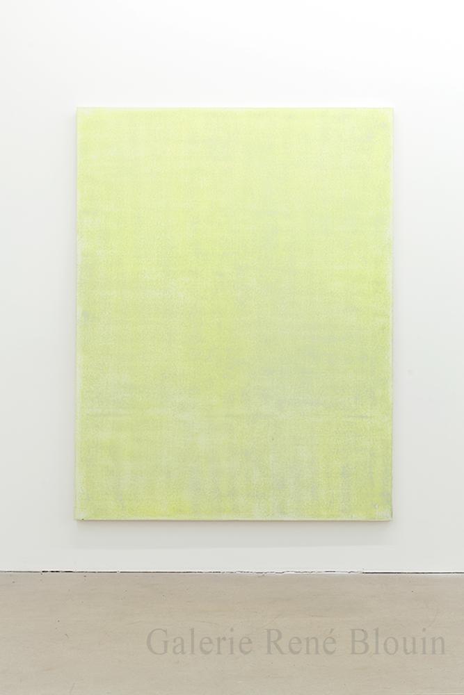 Nicolas Lachance, Arylide (blanc), 2018, Laque et acrylique sur toile, 195,5 x 149,8 cm / 77 x 59 pouces