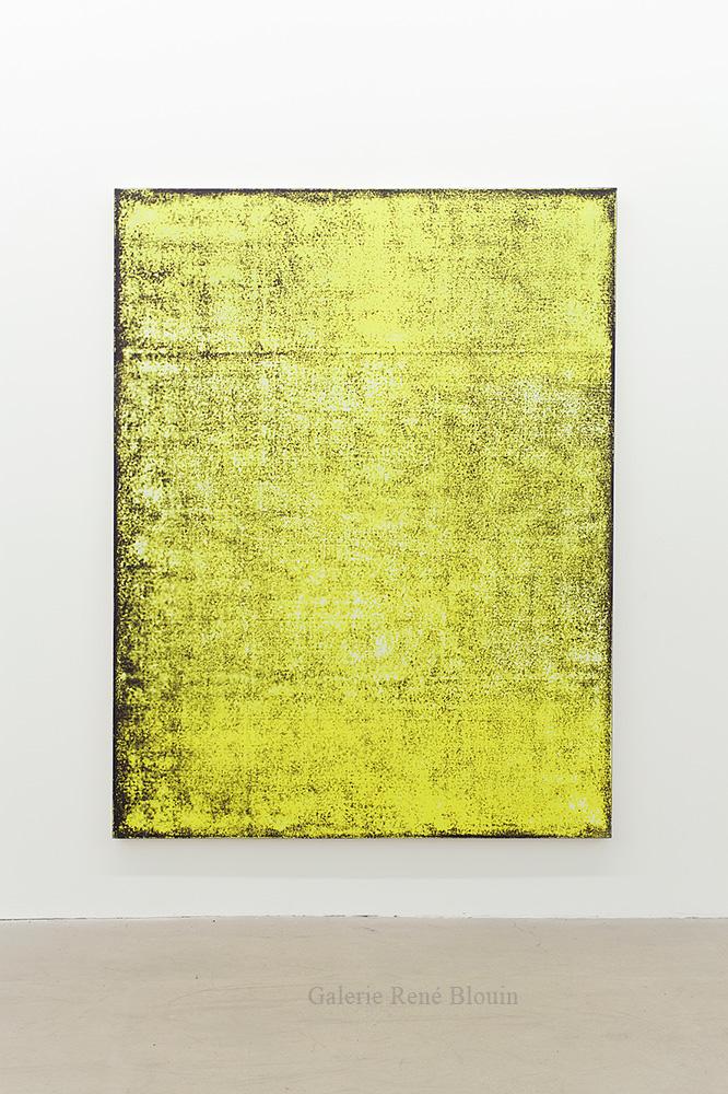 Nicolas Lachance, Arylide (noir), 2018, Laque et acrylique sur toile, 195,5 x 149,8 cm / 77 x 59 pouces