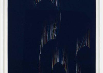 Simon Bertrand, La danse parfaite, 2018, crayon sur papier (texte: Il y a certainement quelqu'un d'Anne Hébert), 62 x 44 cm. Exposition à la Galerie B-312 du 6 septembre au 13 octobre 2018.