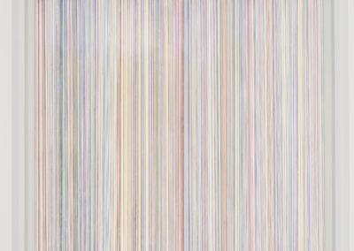 Simon Bertrand, Upon the floor of light and time (texte: Bearded Oaks de Robert Penn Warren), 2018, encre sur papier, 61 x 61 cm. Photo: Guy L'Heureux