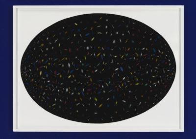 Simon Bertrand, You are wearing a text, 2018, crayon sur papier, 70 x 48 cm. Photo: Guy L'Heureux