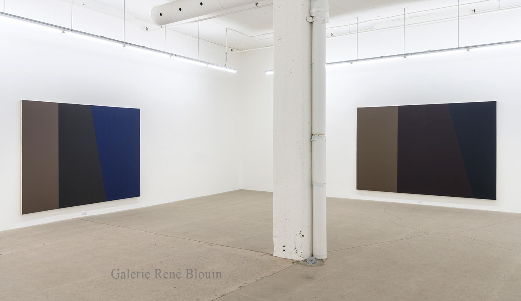 Vue d'installation, Exposition: Yves Gaucher - oeuvre 1986-1992 Photo : Guy L'Heureux