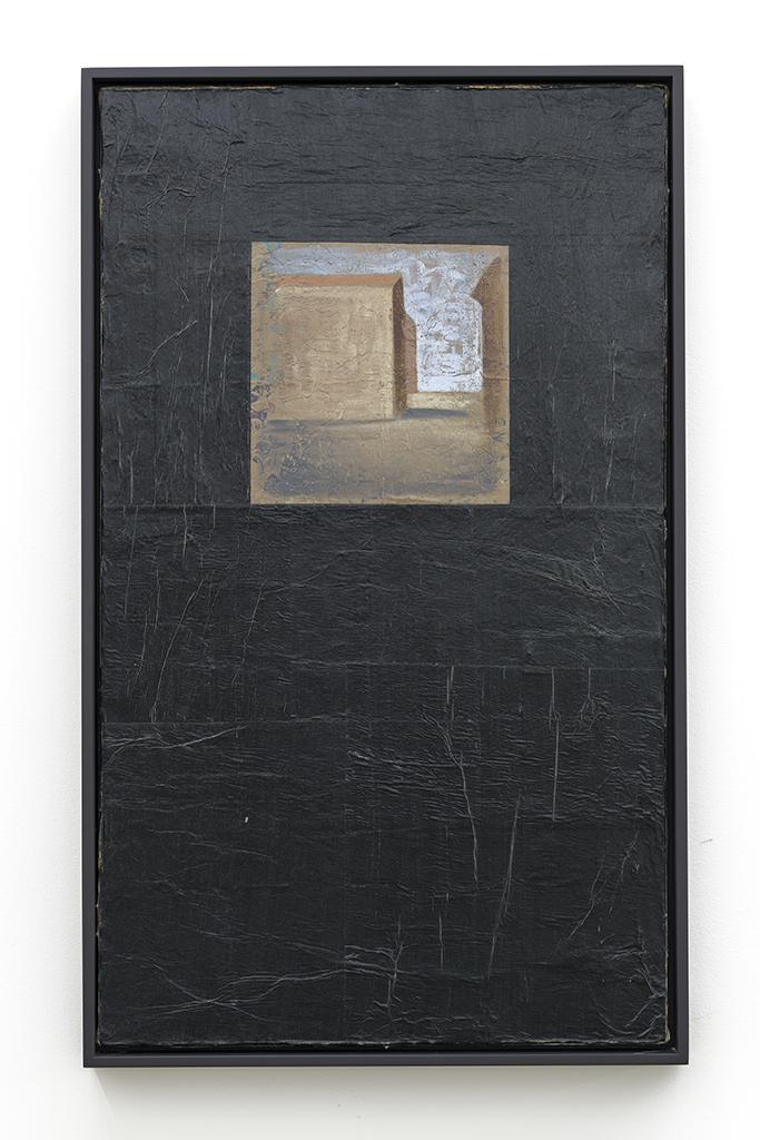 Pierre Dorion, Sans titre, 1988, Huile et collage sur toile, 64,7 cm x 38,8 cm / 25,5 x 15,3 pouces, Photo : Guy L'Heureux
