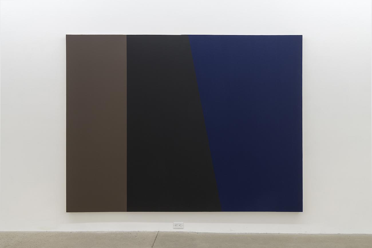 Yves Gaucher, CDR B3 Bleu, 1988, Acrylique sur toile, 193 x 259 cm / 76 x 102 pouces, Photo : Guy L'Heureux