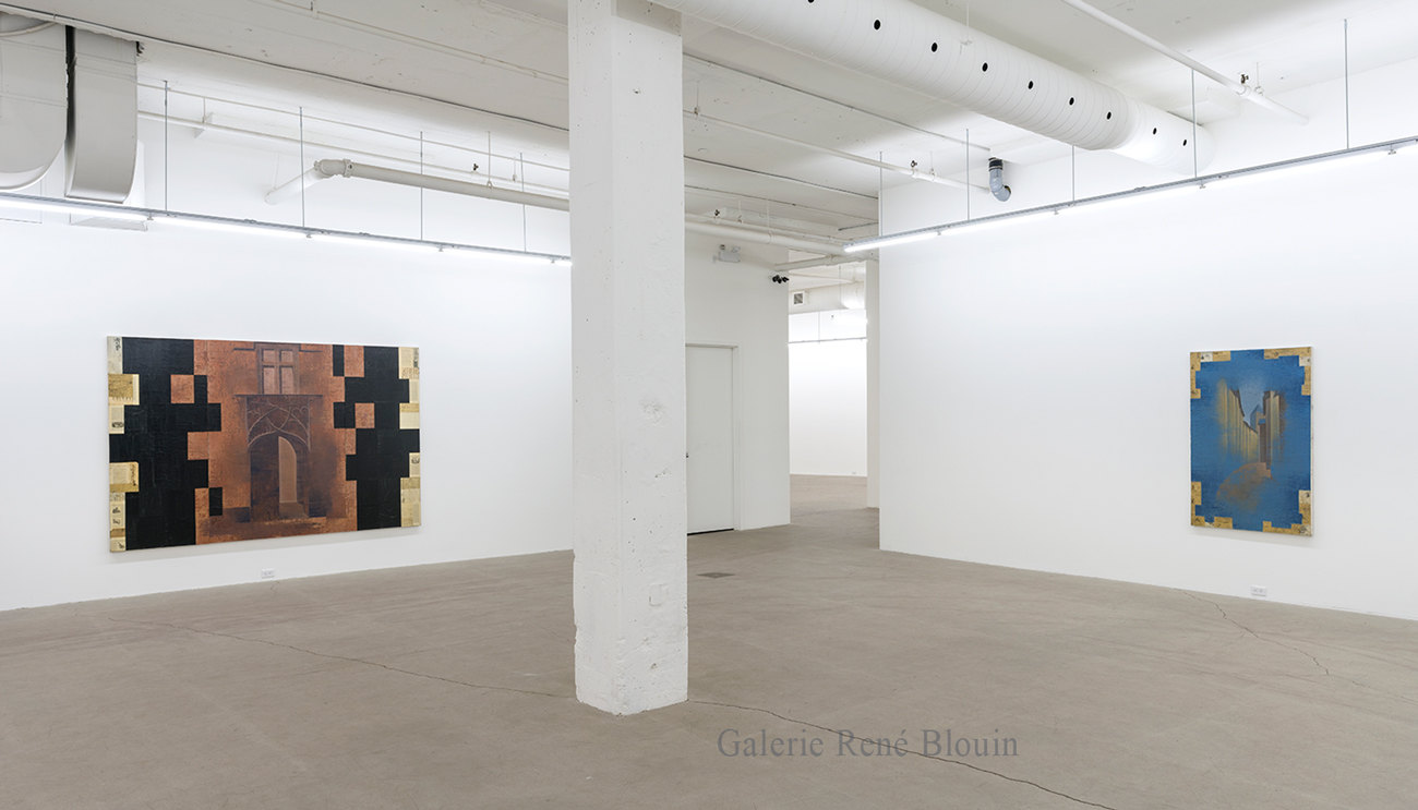 Vue d'installation, Exposition: Pierre Dorion - oeuvre 1989-1991, Photo : Guy L'Heureux