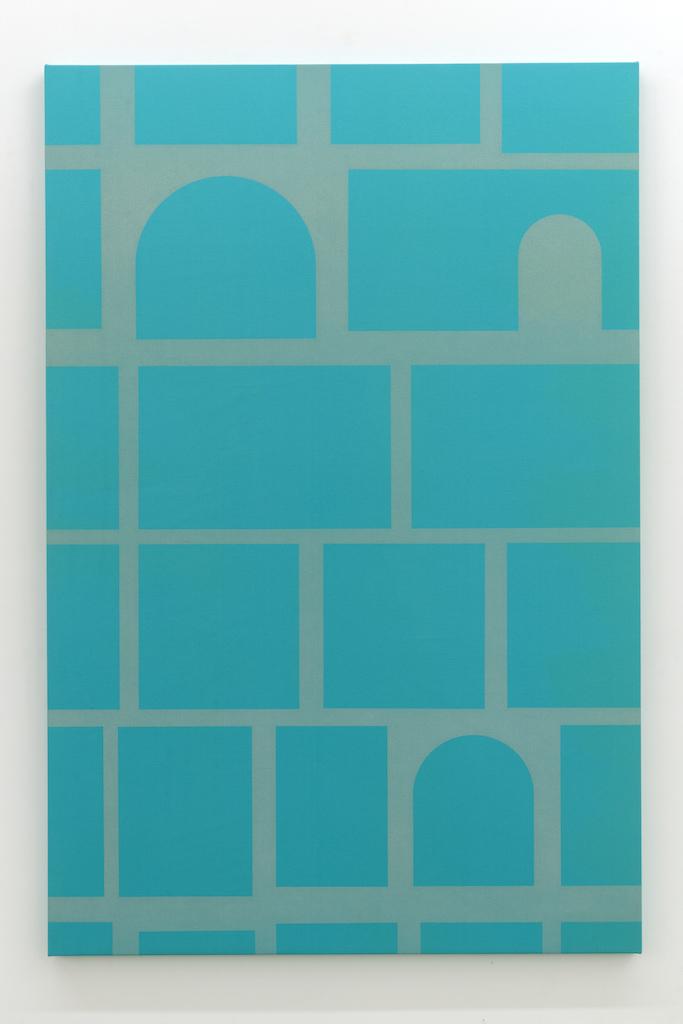 Daniel Langevin, Colombarium, 2018, Acrylique sur coton, 183 x 122 cm / 72 x 48 pouces