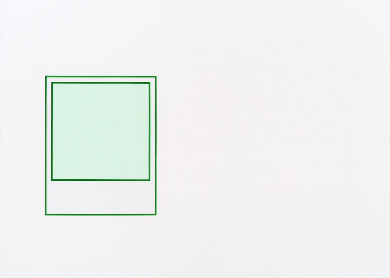 Martin Bourdeau, Prototype (vert n°1), 2018, Acrylique sur toile, 152 x 213 cm / 60 x 84 pouces