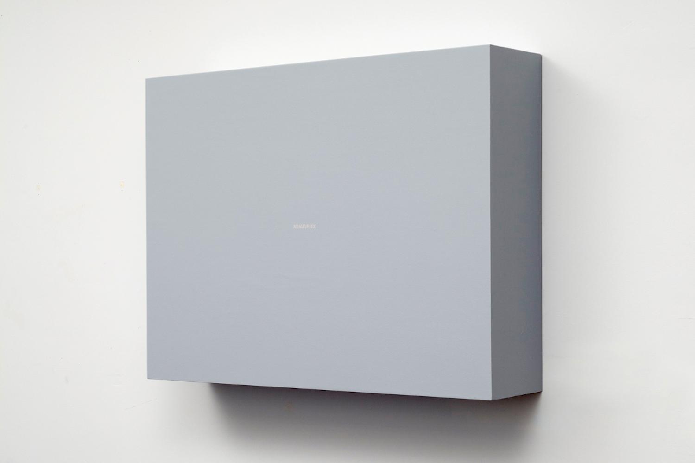Francine Savard, Nuageux (28.06.1999-28.05.2000), 2013, Acrylique sur toile marouflée sur contreplaqué, 91,5 × 122 × 26,7 cm / 36 × 48 × 10.5 pouces