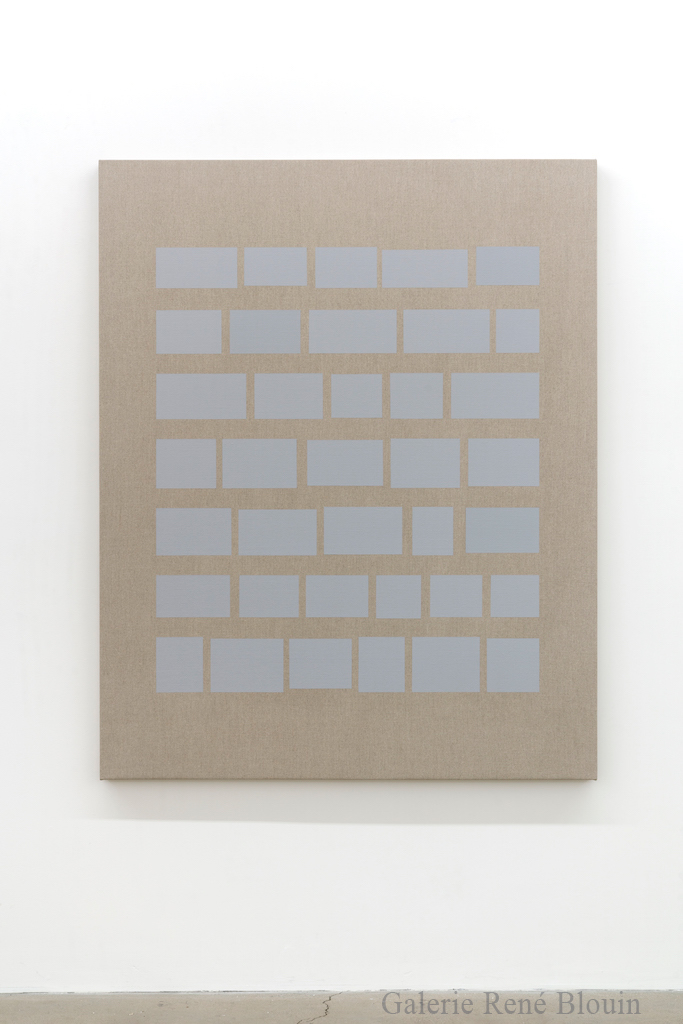 Daniel Langevin, Phi, 2018, Acrylique sur lin, 152 x 122 cm/ 60 x 48 pouces