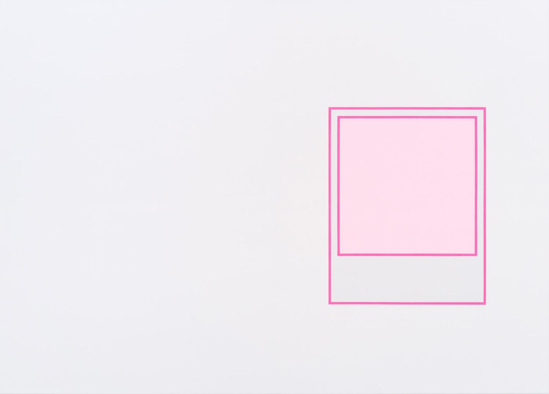 Martin Bourdeau, Prototype (rose), 2018, Acrylique sur toile, 152 x 213 cm / 60 x 84 pouces