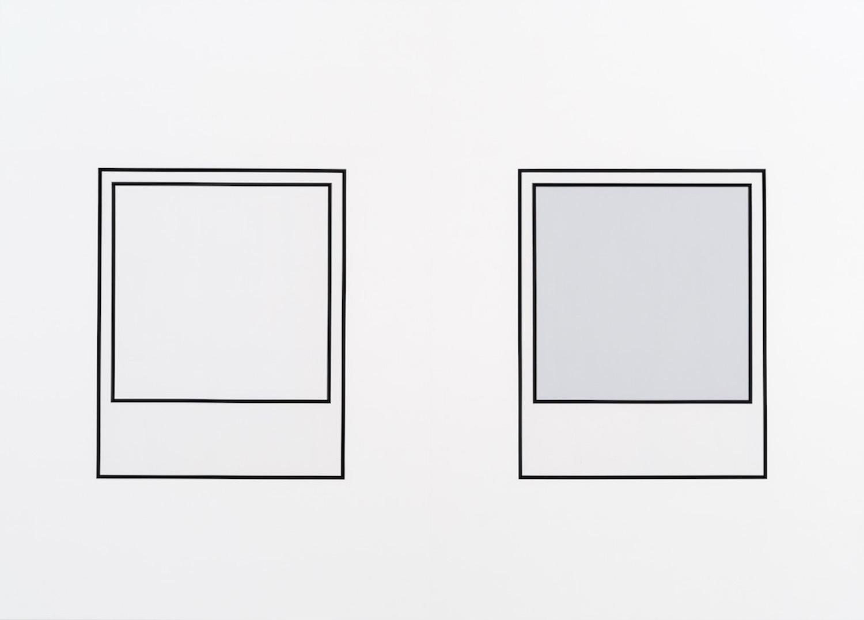 Martin Bourdeau,Prototype (noir n°1) / Prototype (noir n°2), 2018, Acrylique sur toile, 152 x 213 cm / 60 x 84 pouce