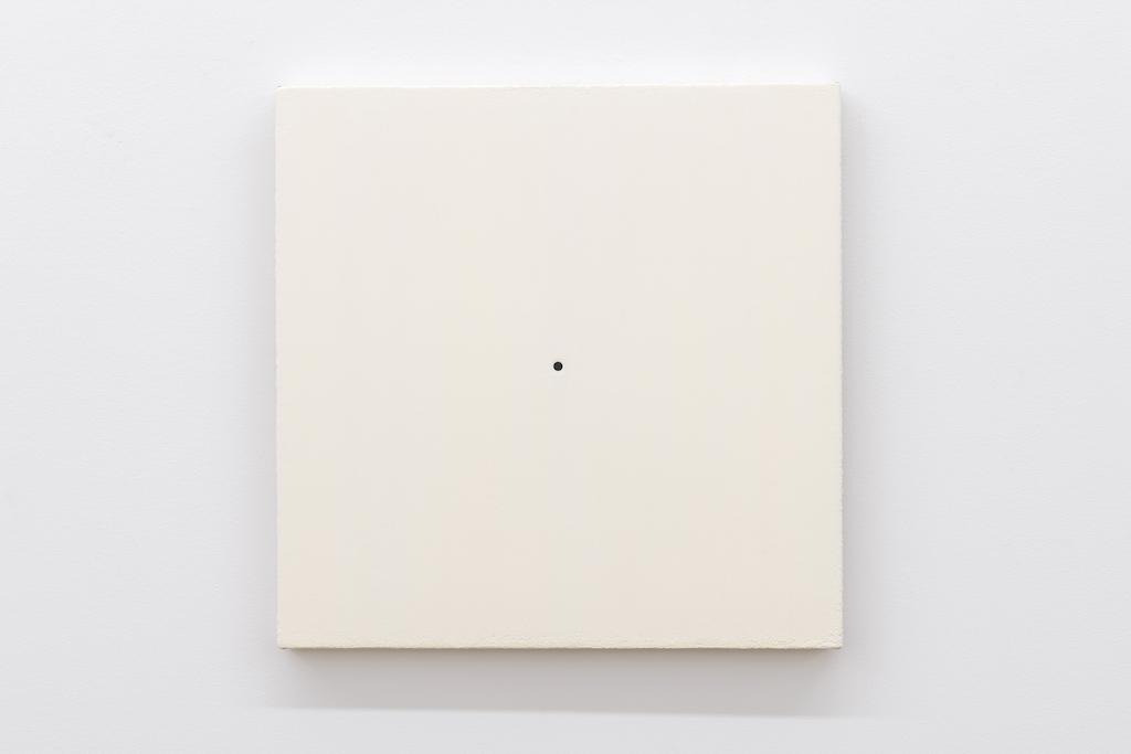 Matthew Feyld, Untitled 19-04, 2018-2019, Acrylique, pigments et pâte à relief sur toile montée sur panneau, 40,64 x 40,64 cm / 16 x 16 pouces