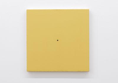 Matthew Feyld, Untitled 19-03, 2018-2019, Acrylique, pigments et pâte à relief sur toile montée sur panneau, 40,64 x 40,64 cm / 16 x 16 pouces