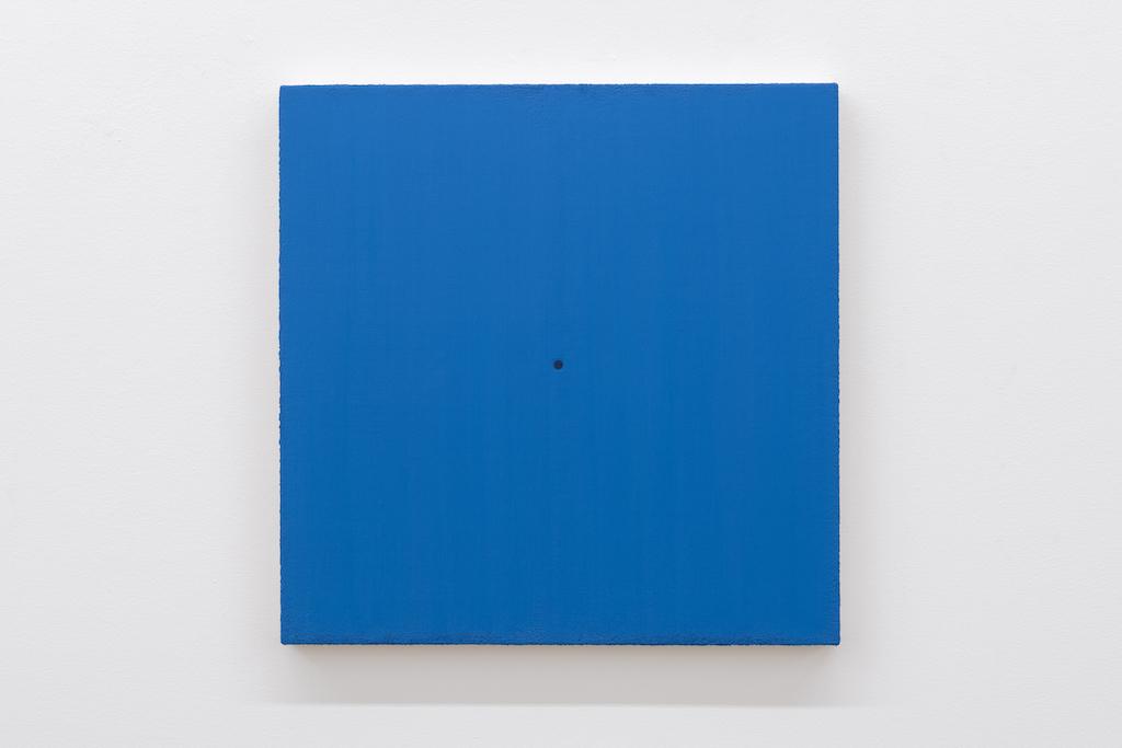 Matthew Feyld, Untitled 19-10, 2018-2019, Acrylique, pigments et pâte à relief sur toile montée sur panneau, 40,64 x 40,64 cm / 16 x 16 pouces