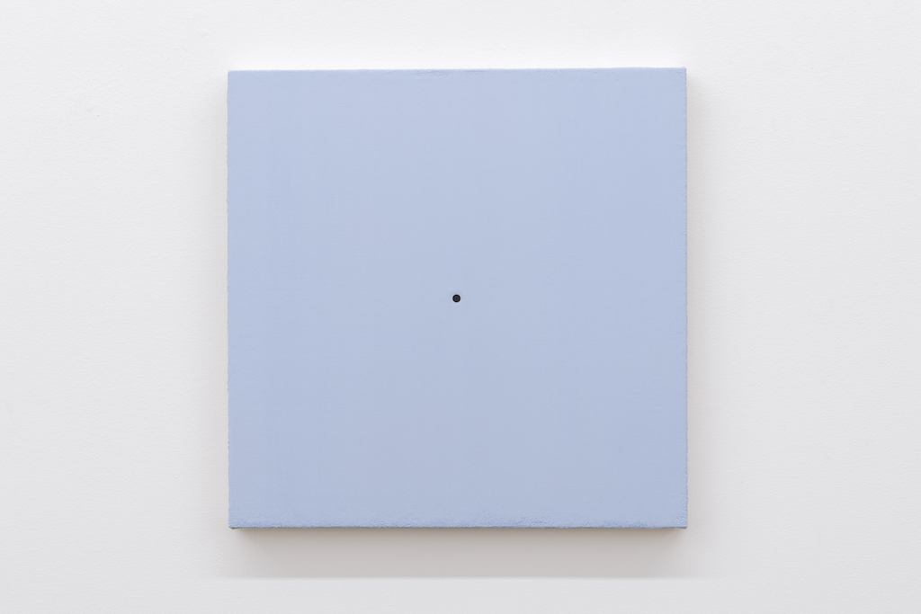 Matthew Feyld, Untitled 19-01, 2018-2019, Acrylique, pigments et pâte à relief sur toile montée sur panneau, 40,64 x 40,64 cm / 16 x 16 pouces