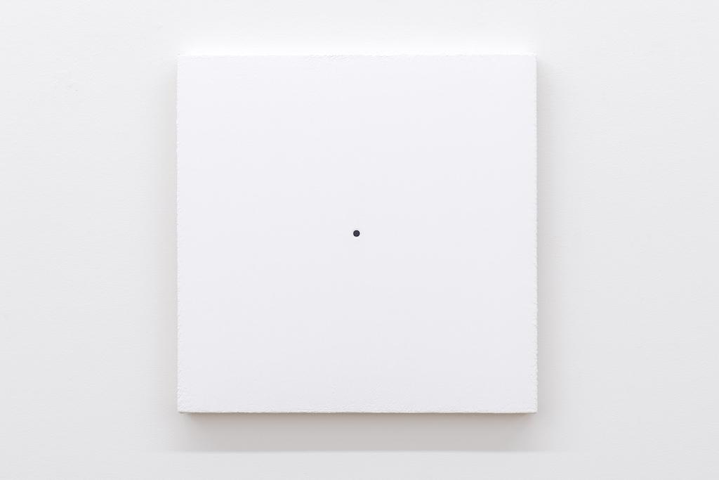 Matthew Feyld, Untitled 19-09, 2018-2019, Acrylique, pigments et pâte à relief sur toile montée sur panneau, 40,64 x 40,64 cm / 16 x 16 pouces