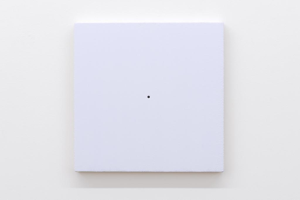 Matthew Feyld, Untitled 19-08, 2018-2019, Acrylique, pigments et pâte à relief sur toile montée sur panneau, 40,64 x 40,64 cm / 16 x 16 pouces
