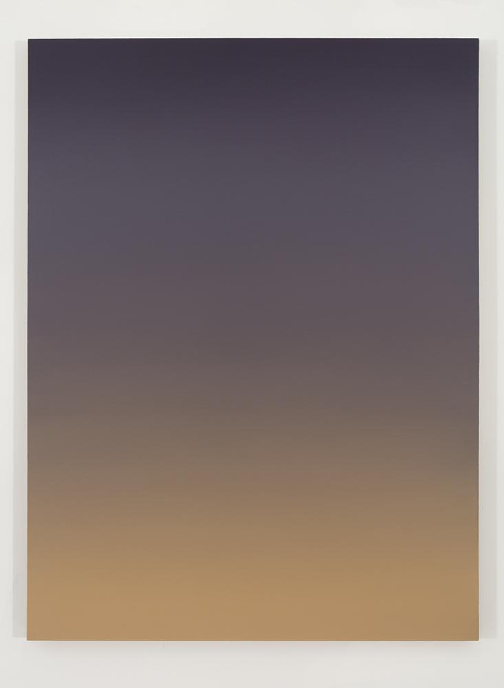 Pierre Dorion, Bichrome (Violet/orange), 2016, huile sur toile de lin, 122 x 91,5 cm / 48 x 36 pouces (crédit photo : Richard-Max Tremblay)