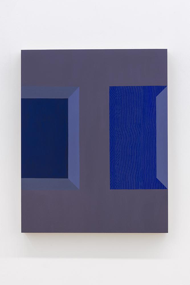 Serena Beaulieu, Hole/Box, 2018, Acrylique sur panneau de bois, 51 x 40,5 cm / 20 x 16 pouces