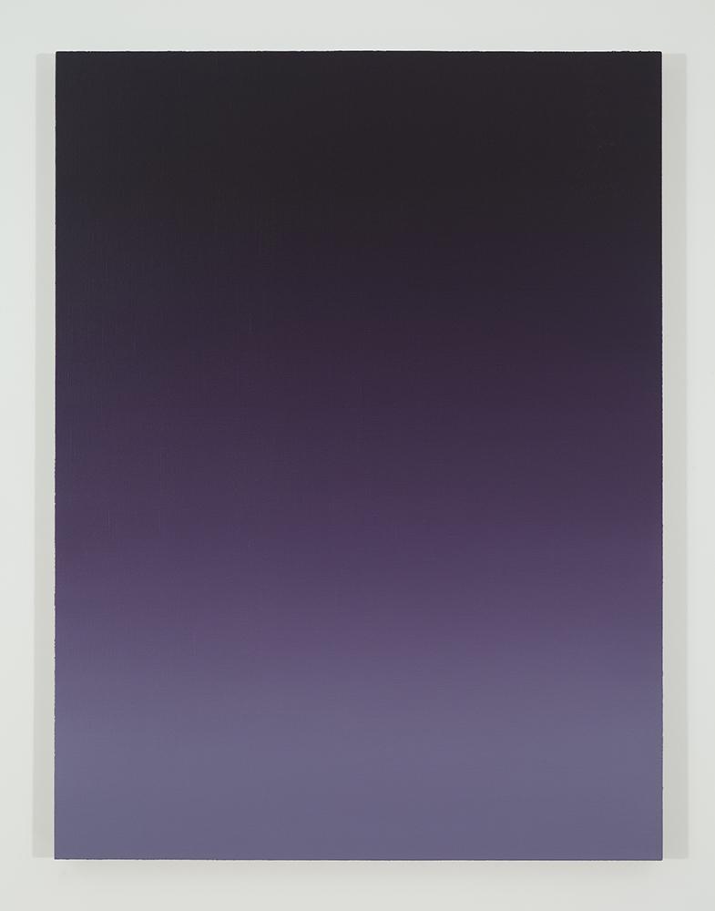 Pierre Dorion, Bichrome (Violet), 2015, huile sur toile de lin, 122 x 91,5 cm / 48 x 36 pouces (crédit photo : Richard-Max Tremblay)