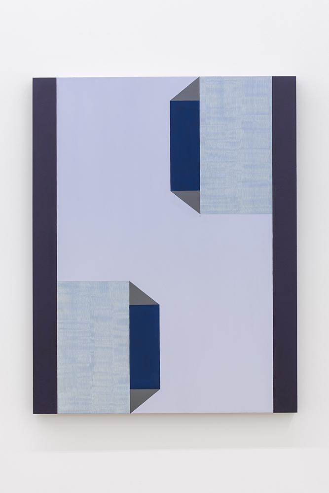 Serena Beaulieu, 180°, 2018, Acrylique sur panneau de bois, 71 x 56 cm / 28 x 22 pouces