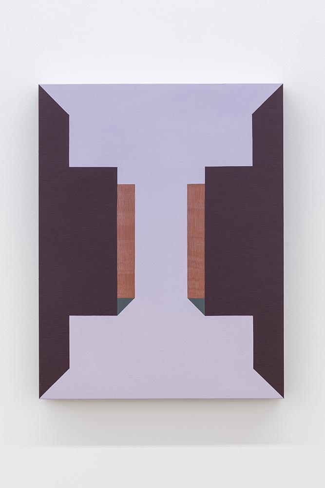 Serena Beaulieu, I, 2018, Acrylique et panneau sur bois, 45,7 x 35,5 cm / 18 x 14 pouces