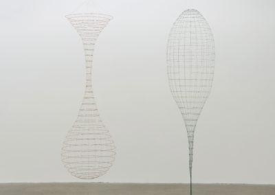 Sarah Stevenson. 2 Vessels, 2015, Fil et fil métallique, dimensions variables.