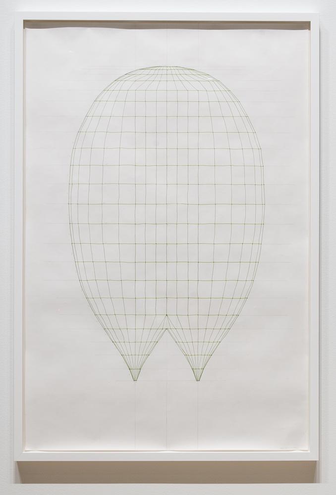 Sarah Stevenson, Split (drawing), 2018, Encre et graphite sur papier, 150 x 100 cm