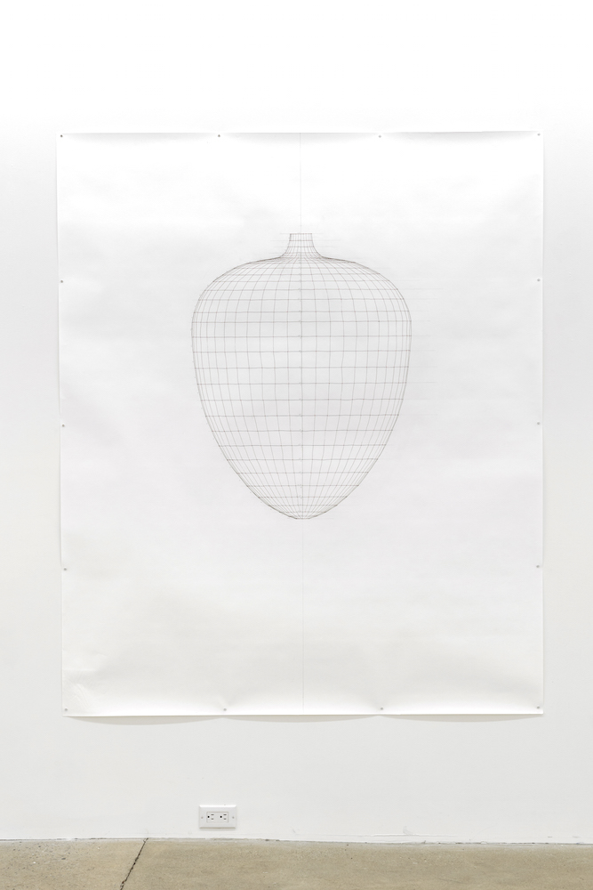 Sarah Stevenson, Heart (drawing), 2019, Encre et graphite sur papier, 178x152,5 cm