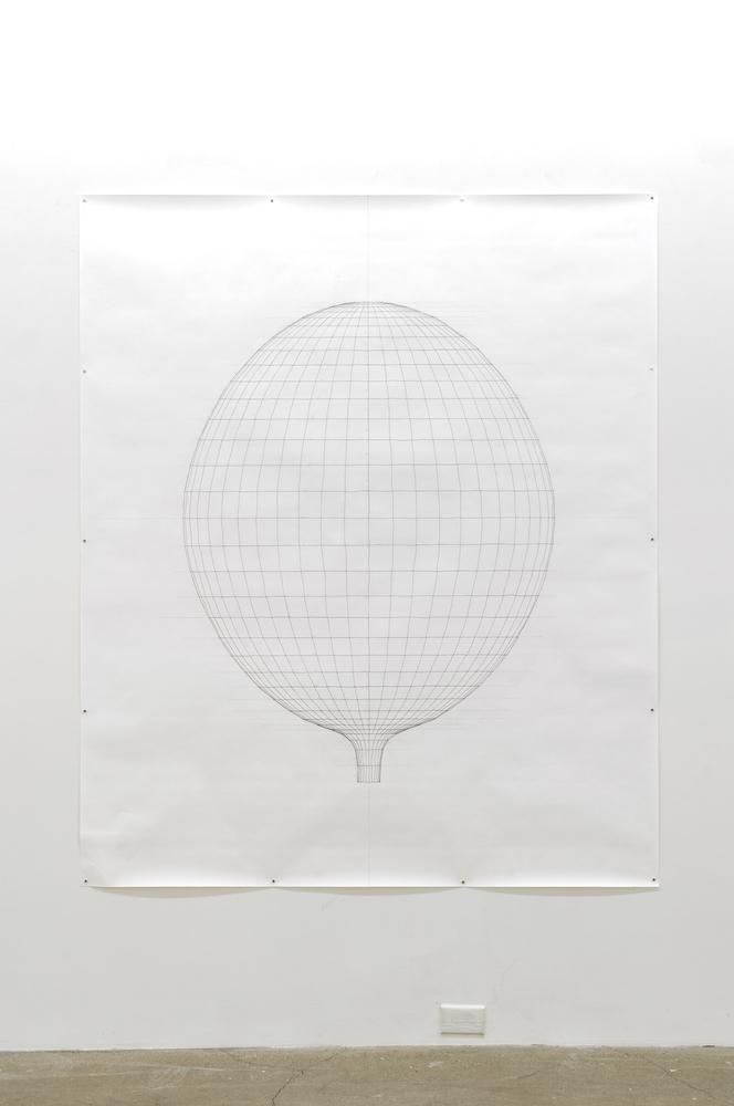 Sarah Stevenson, Poppy (drawing), 2019, Encre et graphite sur papier, 178x152,5cm