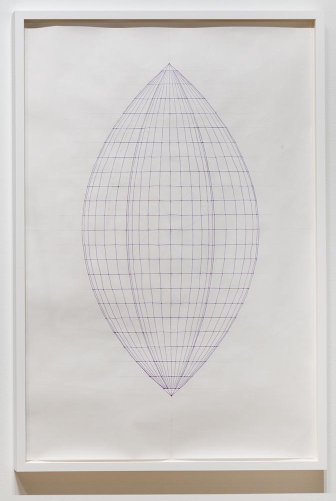 Sarah Stevenson, Husk (drawing), 2018, Encre et graphite sur papier, 150 x 100 cm