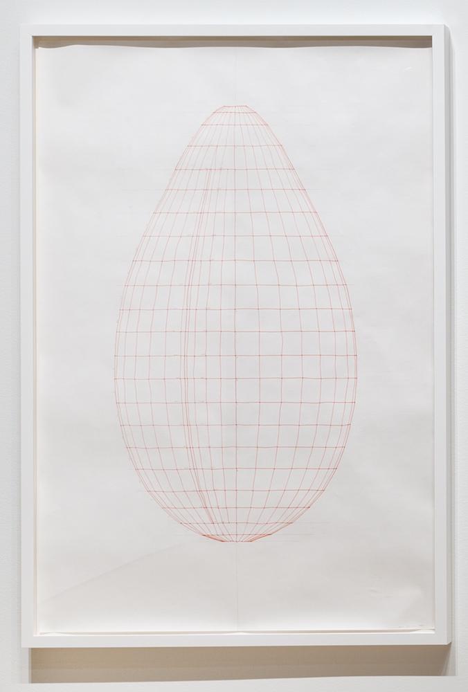 Sarah Stevenson, Cleft (drawing), 2018, Encre et graphite sur papier, 150 x 100 cm