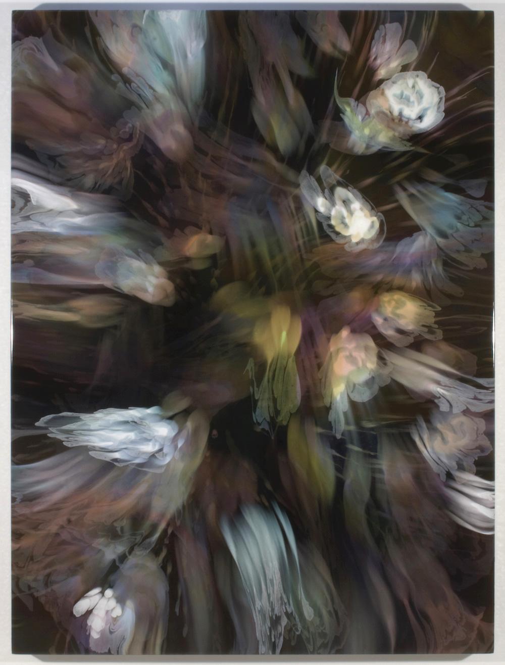 François Lacasse, Grande échappée VI, 2019, acrylique et encre sur toile, 162,6 x 121,9 cm