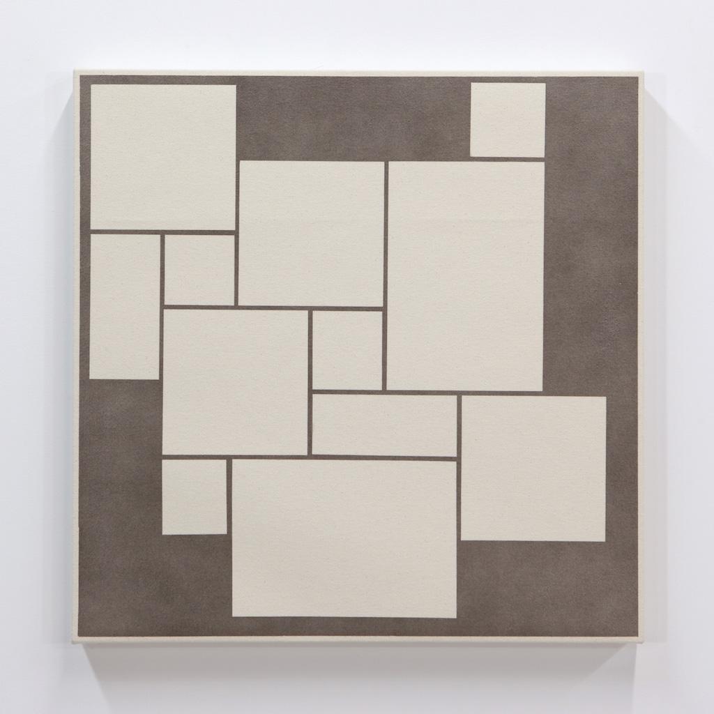 Daniel Langevin, Fig. IV, 2018, acrylique sur toile montée sur panneau, 61 x 61 cm