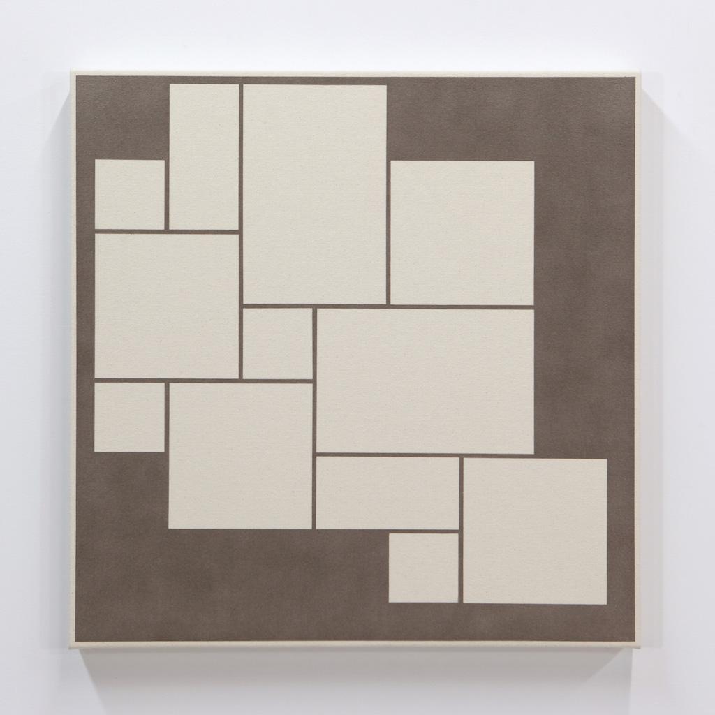 Daniel Langevin, Fig. VI, 2018, acrylique sur toile montée sur panneau, 61 x 61 cm