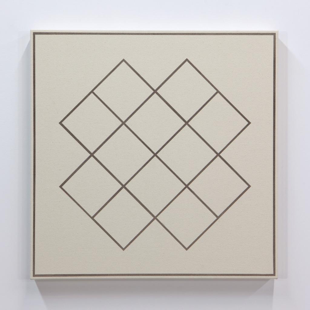 Daniel Langevin, Fig. II, 2018, acrylique sur toile montée sur panneau, 61 x 61 cm
