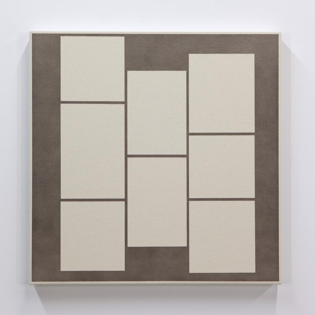Daniel Langevin, Fig. VIII, 2018, acrylique sur toile montée sur panneau, 61 x 61 cm
