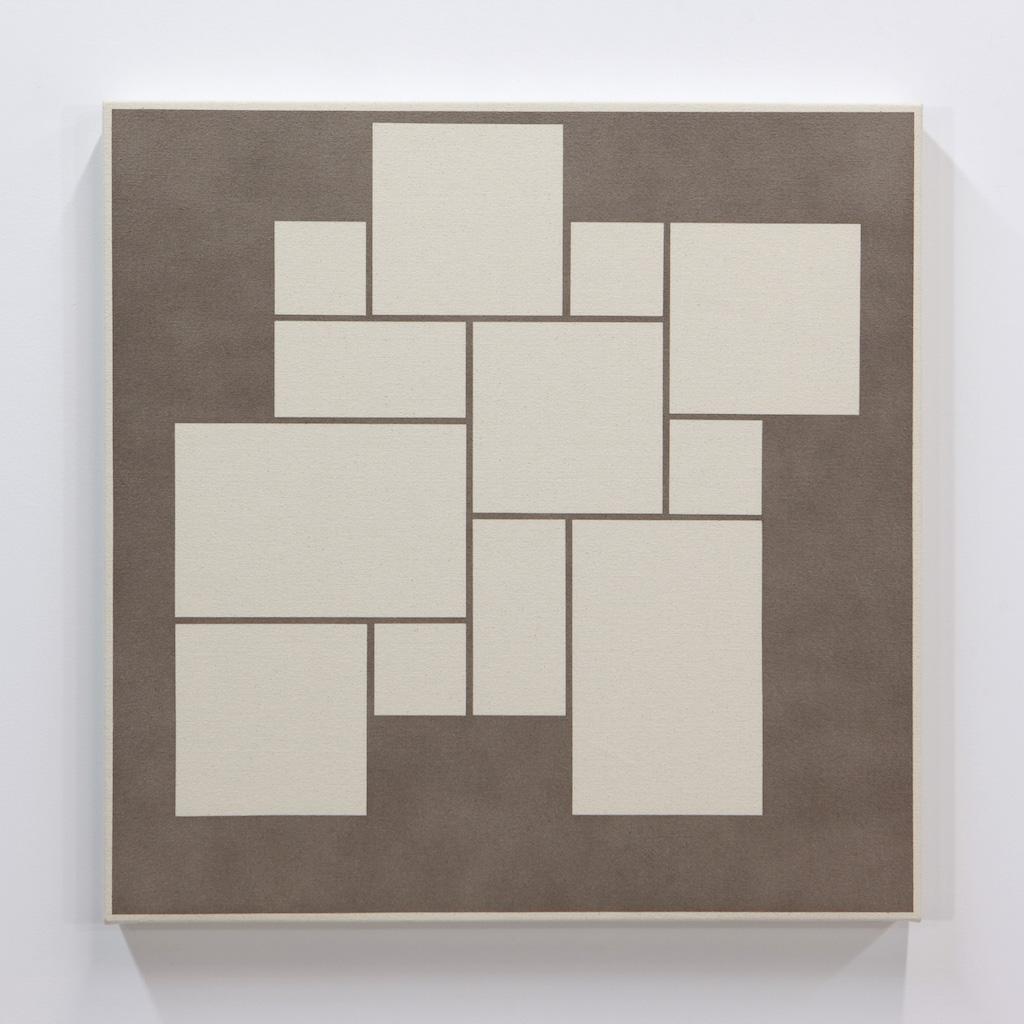 Daniel Langevin, Fig. I, 2018, acrylique sur toile montée sur panneau, 61 x 61 cm