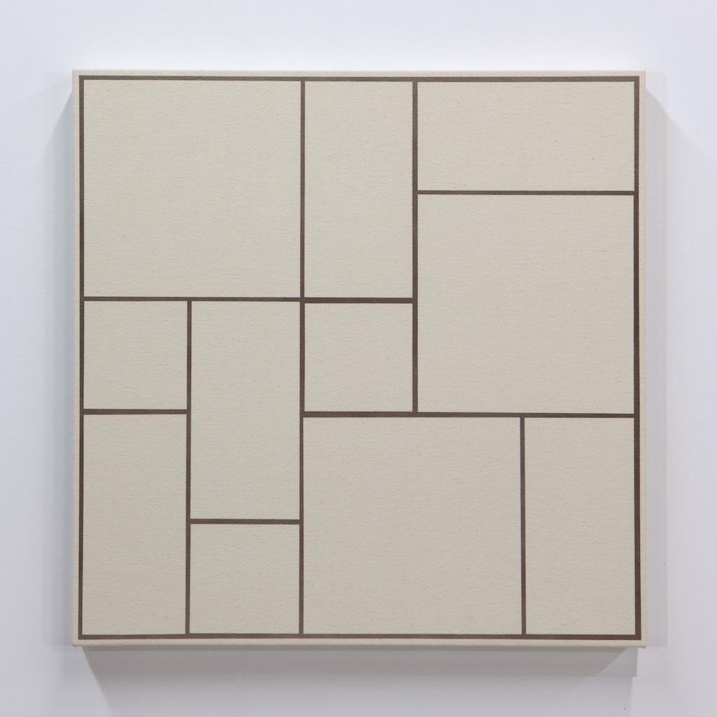 Daniel Langevin, Fig. VII, 2018, acrylique sur toile montée sur panneau, 61 x 61 cm