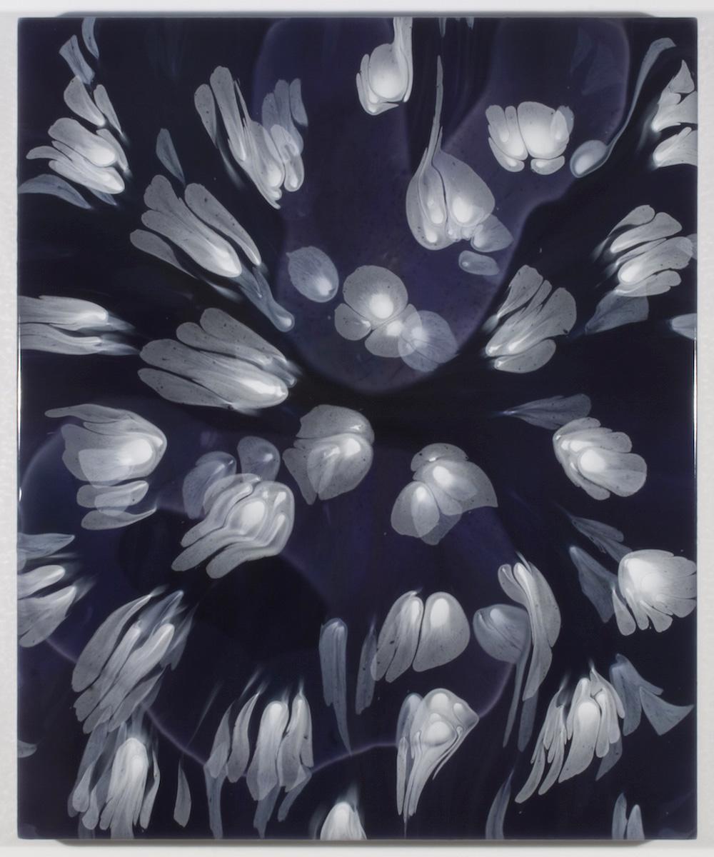 François Lacasse, Secrets floraux V, 2018, acrylique et encre sur toile, 91,4 x 76,2 cm