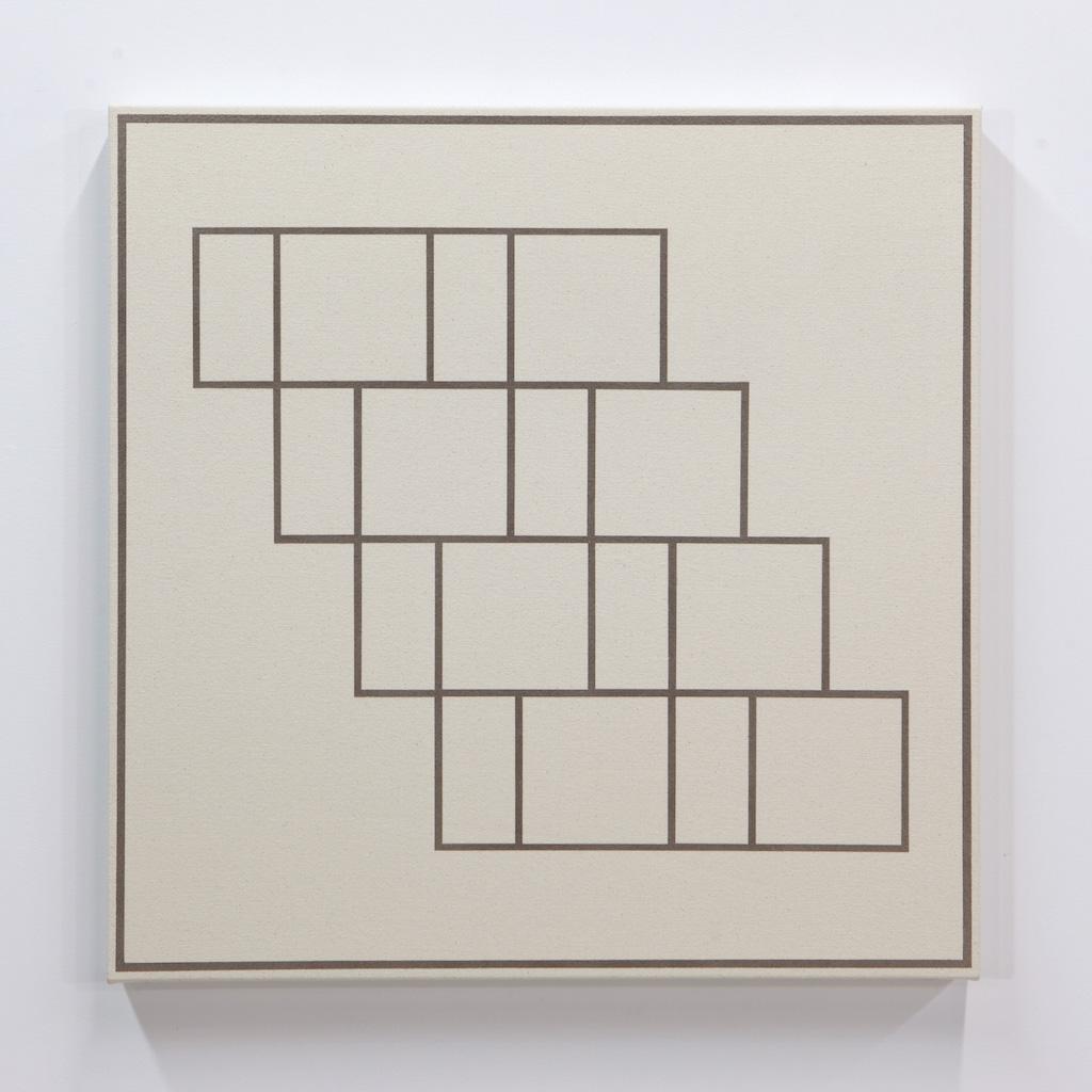 Daniel Langevin, Fig. V, 2018, acrylique sur toile montée sur panneau, 61 x 61 cm