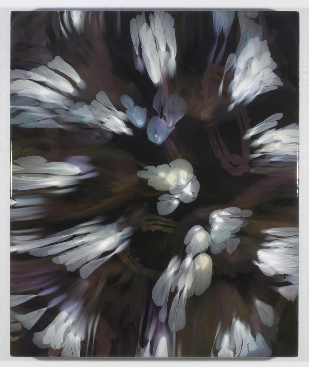 François Lacasse, Secrets floraux VIII, 2019, acrylique et encre sur toile, 91,4 x 76,2 cm