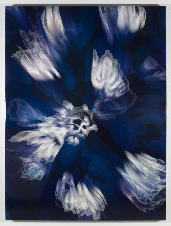 François Lacasse, Grande échappée VIII, 2019, acrylique et encre sur toile, 162,6 x 121,9 cm