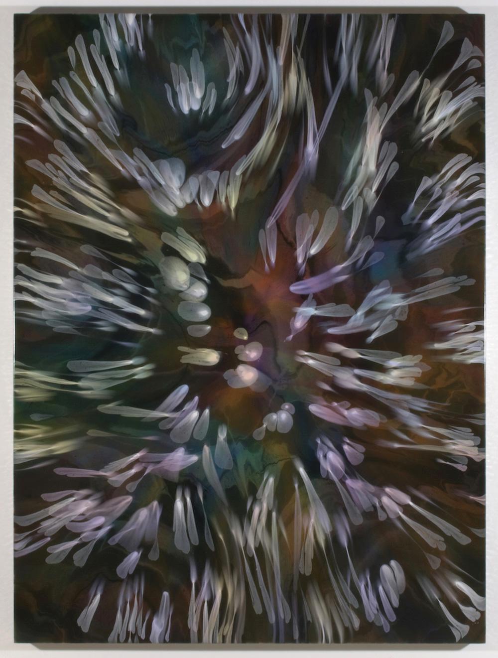 François Lacasse, Grande échappée II, 2018, acrylique et encre sur toile, 162,6 x 121,9 cm