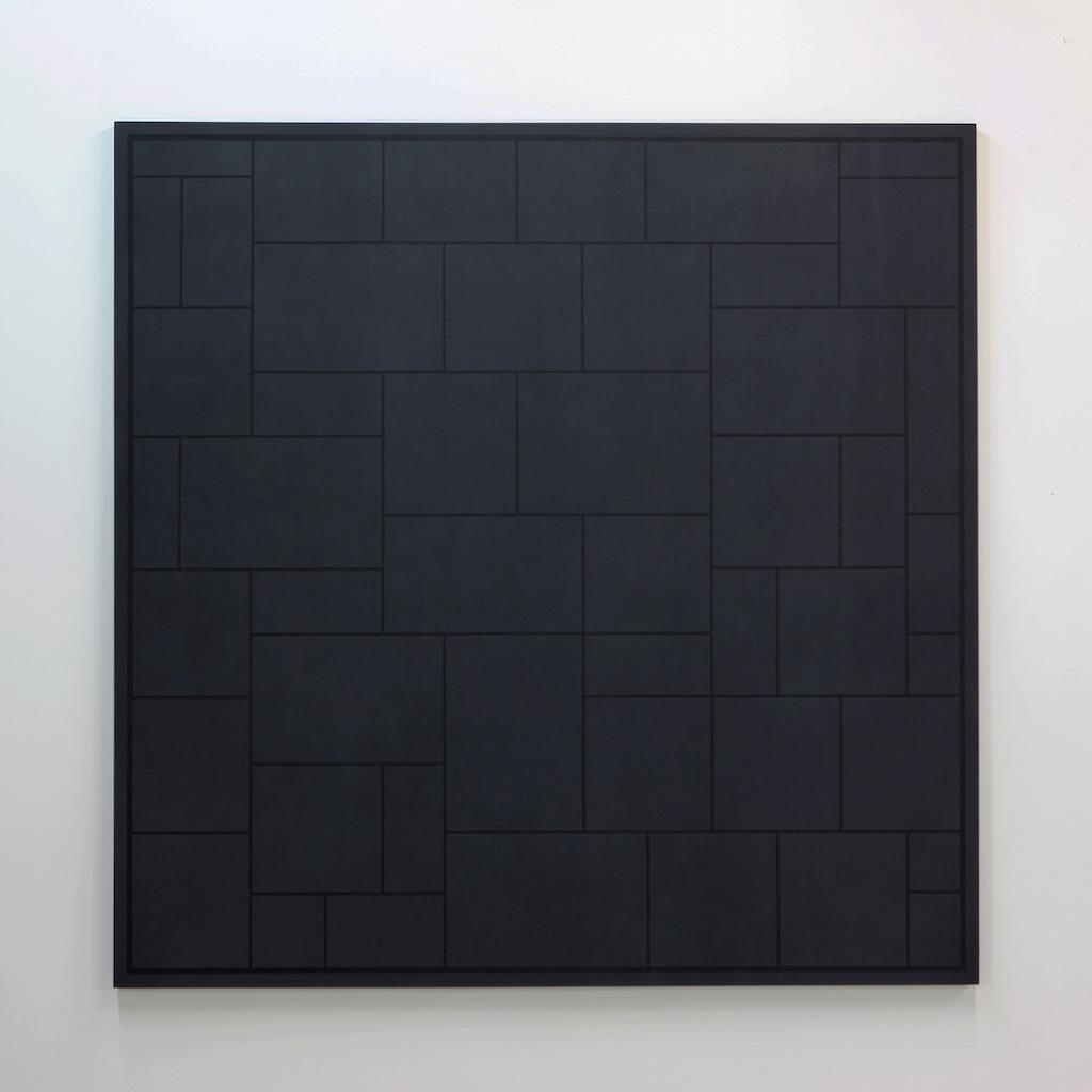Daniel Langevin, Pattern II, 2018, acrylique sur coton monté sur panneau, 183 x 183 cm